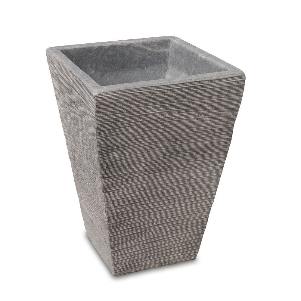 Flower Pots | Square Conical Flower Pot Grey Marble | 3133 |  |