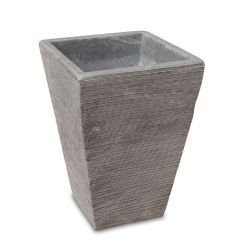 Square Conical Flower Pot Grey Marble
